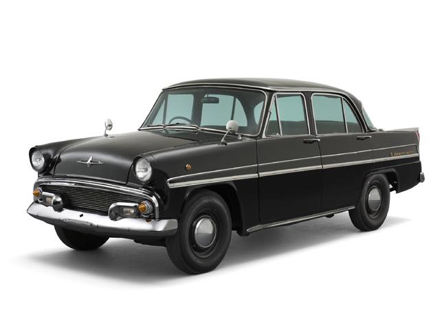 1957 Skyline Deluxe - Máy GA30 (4-cyl. in line, OHV), 1,484cc, 44kW (60PS), tốc độ tối đa 125kmh