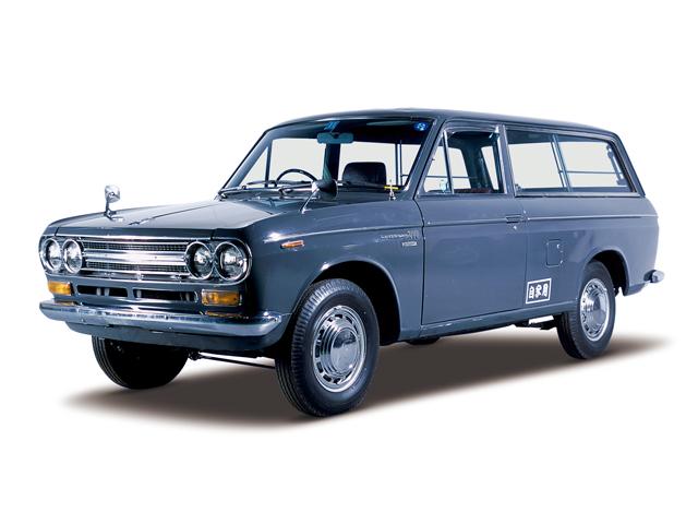 1972 Datsun Van 1500 Deluxe - Máy J15 (4-cyl. in line, OHV), 1,483cc, 57kW (77PS)