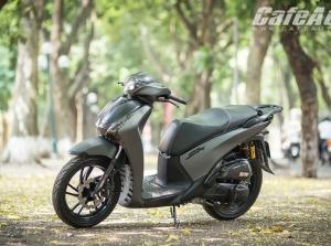 Honda SH Việt độ màu sơn xám lỳ độc đáo