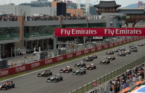 Grand Prix Hàn Quốc lại bị loại khỏi F1