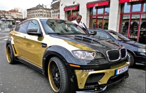 BMW X6 độ mạ vàng