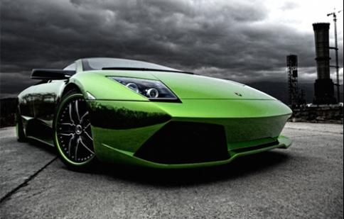 Lamborghini Murcielago màu xanh độc