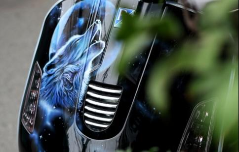 Ảnh đẹp Airbrush vẽ trên xe máy