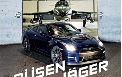 Nissan GT-R chạy đua với máy bay chiến đấu