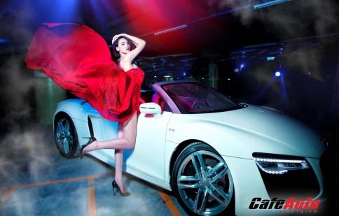 Trang Nhung siêu gợi cảm bên Audi R8 Spyder