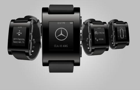 Mercedes phát triển đồng hồ tương tác xe hơi