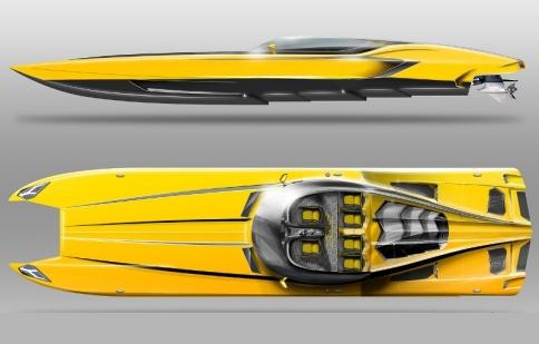 Lamborghini Aventador LP720-4 Roadster hóa tàu thủy cực độc