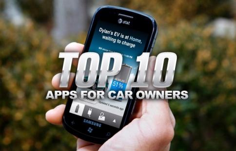 Top 10 ứng dụng di động dành cho ô tô