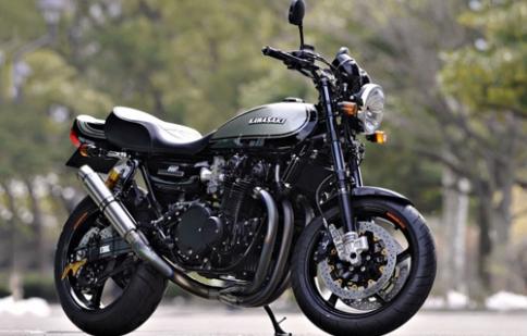 Kawasaki cafe racer - kết hợp nét thực dụng