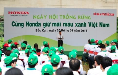 Honda mở rộng diện tích rừng trồng tại Bắc Kạn
