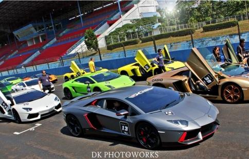 51 siêu xe Lamborghini tại Indonesia tụ hội
