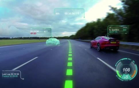 Jaguar phát triển kính chắn gió ảo giống như game