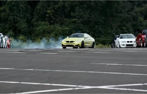 BMW giới thiệu M4 Coupe bằng màn drift ngoạn mục