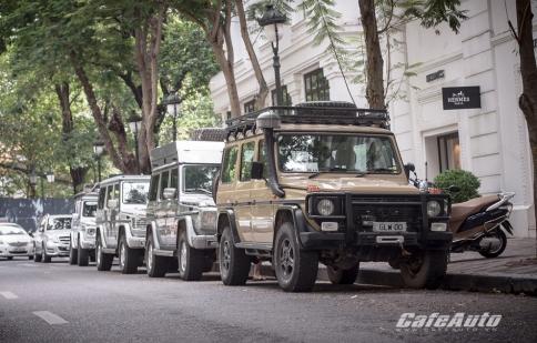 """Đoàn Mercedes G-Class """"phượt"""" 18.000 km sang Việt Nam"""