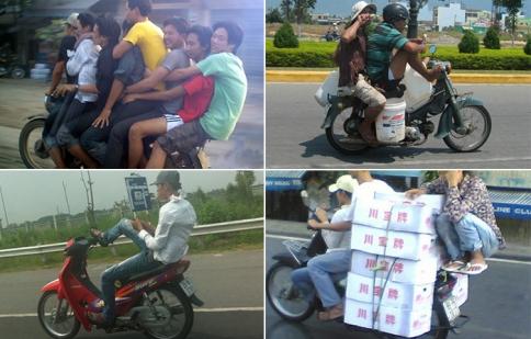 Phong cách lái xe độc, lạ và liều của Việt Nam lên báo Tây