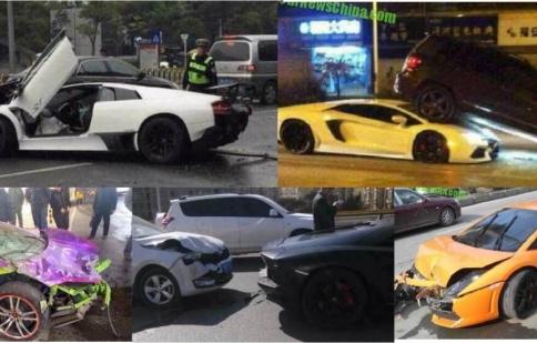 """5 siêu xe Lamborghini tan nát vào """"thứ sáu đen tối"""""""