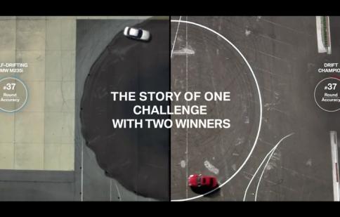 Xe tự drift của BMW đối đầu với 'cao thủ'