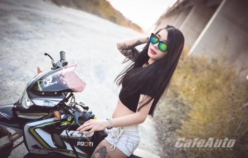 Kawasaki KSR II cực hiếm đọ cá tính cùng người đẹp