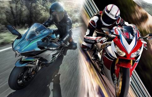 Mãn nhãn với màn đọ sức giữa Honda CBR1000RR và Kawasaki Ninja H2 tại Thái