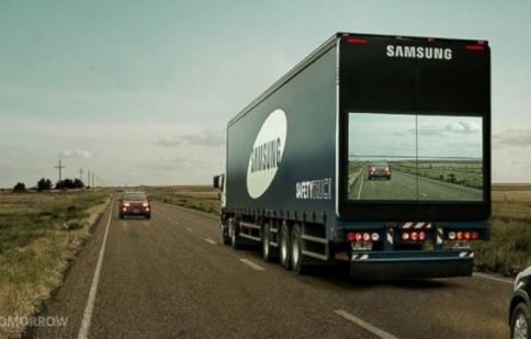 """Samsung giới thiệu công nghệ """"biến"""" xe trở nên trong suốt"""