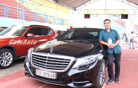 Nghệ sĩ Quyền Linh mang xe sang Mercedes S-Class đi chăm sóc toàn diện