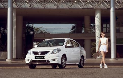Thu Hiền Next top model nổi bật xuống phố cùng Nissan Sunny