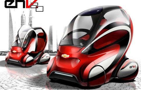 GM ra mắt xe điện Chevrolet EN-V 2.0