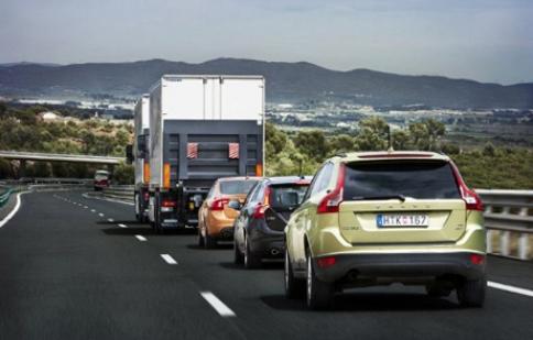 Đoàn xe không người lái tham gia giao thông