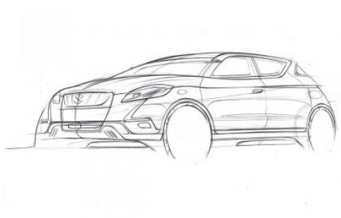 Suzuki S-Cross concept lộ bản phác thảo