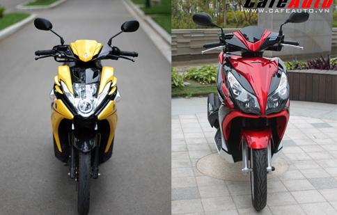 Chọn Honda Air Blade 125 hay Yamaha Nouvo SX
