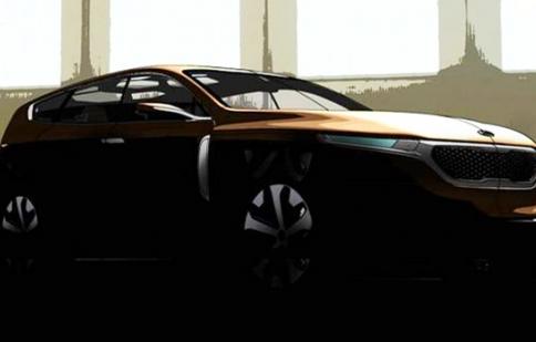 Kia Cross GT Concept lộ ảnh phác thảo