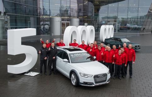 Đã có 5 triệu chiếc Audi Quattro được xuất xưởng