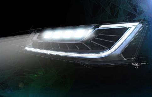 Audi A8 2014 tích hợp đèn chiếu sáng Matrix LED mới