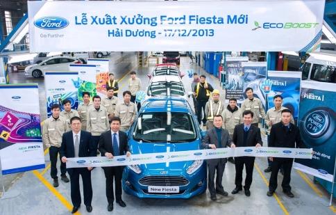 Chiếc Ford Fiesta đầu tiên xuất xưởng tại Việt Nam