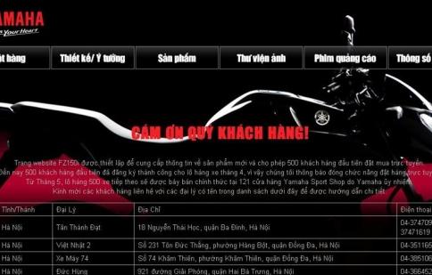 500 chiếc Yamaha FZ150i bán hết trong vòng 10 ngày