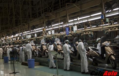 Việt Nam trở thành trung tâm xuất khẩu xe máy của Honda