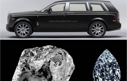 Rolls-Royce SUV được đặt theo tên viên kim cương lớn nhất thế giới