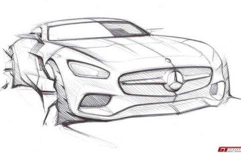 Lộ thiết kế ngoạt thất Mercedes-Benz GT AMG 2015