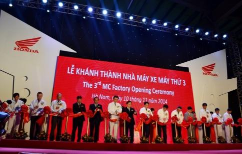 Honda khánh thành nhà máy thứ 3 tại Việt Nam