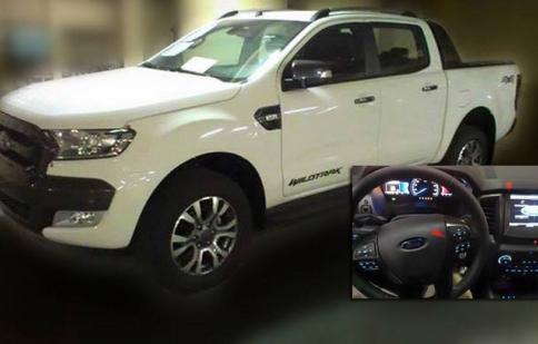 Tiếp tục lộ ảnh nóng Ford Ranger phiên bản Wildtrack kèm nội thất