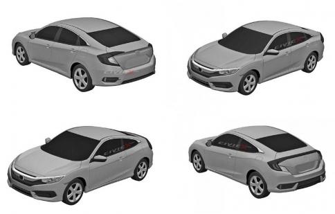 Honda Civic 2016 lộ diện phiên bản sản xuất