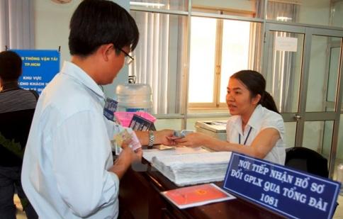 TP. HCM mở thêm điểm đổi giấy phép lái xe qua tổng đài