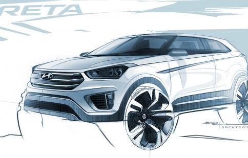 Hyundai Creta lộ mẫu phác thảo