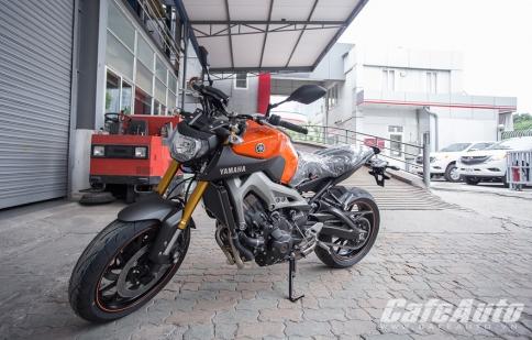 Cận cảnh Yamaha MT-09 đầu tiên tại Hà Nội