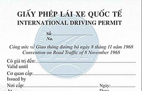 Cấp giấy phép lái xe quốc tế từ 15.10