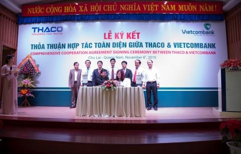 THACO ký kết thỏa thuận hợp tác trị giá 4.500 tỷ đồng với ngân hàng Vietcombank