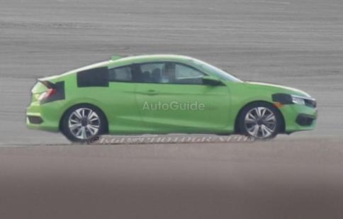 Phát hiện Honda Civic Coupe 2016 chạy thử nghiệm trước khi ra mắt