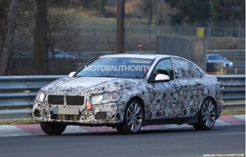 BMW 1-Series 2017 phiên bản sedan lộ ảnh thực tế