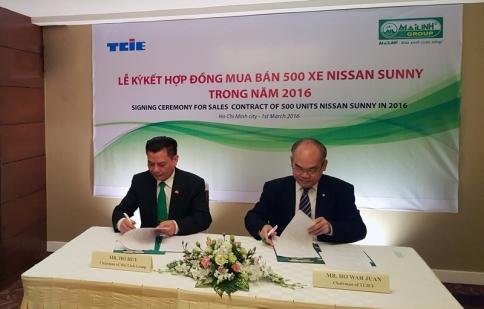 TCIE Việt Nam và Mai Linh Group ký kết hợp đồng 500 xe Nissan Sunny XL