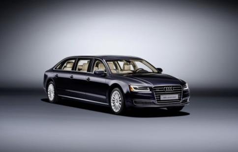 Lộ diện Audi A8L phiên bản limousine mới nâng cấp